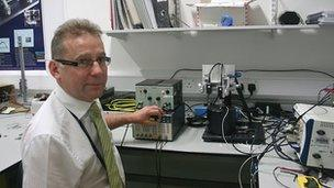 Dr Paul Weaver in his lab