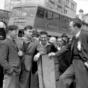 Michael Foot campaigning at Plymouth in May 1955