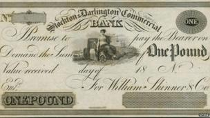 Stockton and Darlington Commercial banknote