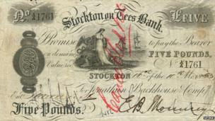 Stockton on Tees banknote