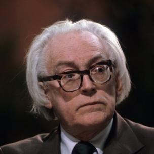 Michael Foot, Labour MP for Ebbw Vale, at the Labour Party Conference