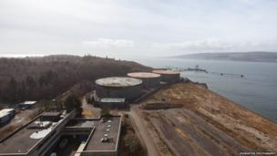 View above Inverkip Power Station