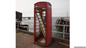 Old phone box beside Inverkip Power Station