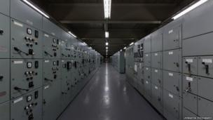 Locker room at Inverkip Power Station