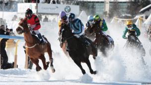Horse racing in St Moritz