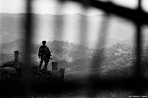 A soldier at the Shan frontline in Burma