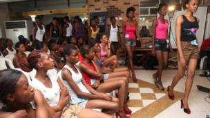 Nigerian models auditioning for Nigeria's Next Top Supermodel, Lagos, Nigeria - Wednesday 17 July 2013