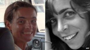 Montserrat Serra (L) and Blanca Thiebaut (R) in undated file photos