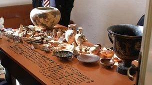 Recovered antiquities