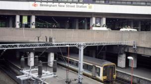 New Street Station in Birmingham