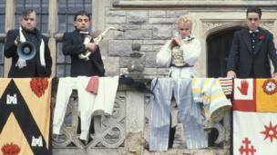 Mel Smith, Rowan Atkinson, Pamela Stephenson and Griff Rhys Jones.