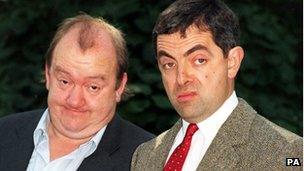 Mel Smith and Rowan Atkinson