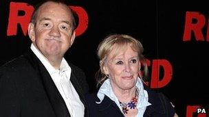 Mel Smith and his wife Pam