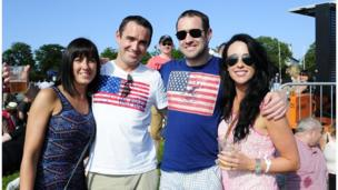 The Callan family at Bruce Springsteen concert