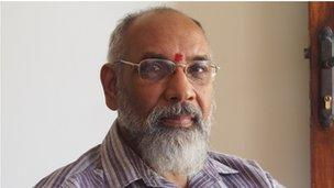 CV Wigneswaran, a retired Supreme Court judge who has become a politician for the largest Tamil party