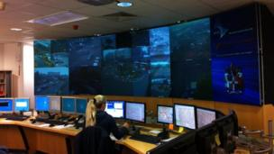 BBC WM reporters a Birmingham City Council's Urban Traffic Control Centre