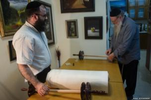 Rabbi Louis and his father