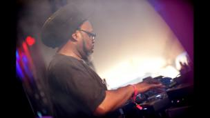 Jazzie B DJs at Lovebox festival at Victoria Park on July 19, 2013 in London, England.