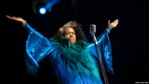 Kelis performs on Day 3 of the Lovebox festival at Victoria Park on July 21, 2013 in London, England.