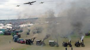 Air show at Great Dorset Steam Fair