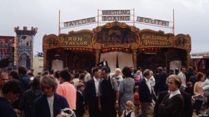 Boxing booth at the 1968 Great Dorset Steam Fair