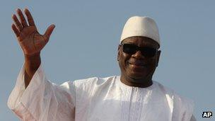 Ibrahim Boubacar Keita campaigning on 7 July in Bamako