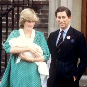 Diana with Prince William