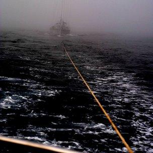 The ship was spotted floating out of thick fog near Downings harbour in County Donegal