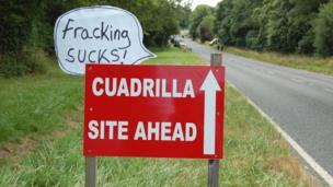 Cuadrilla sign