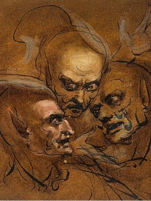 Three Heads: The Witches of Macbeth (1767) by John Runciman