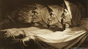 The Weird Sisters from Shakespeare's Macbeth - After Henry Fuseli (1741-1825); mezzotint by John Raphael Smith (1751-1812)