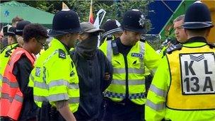 Protestiwr arestio