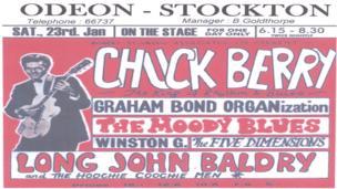 Stockton Odeon poster from the Stars Fell on Stockton exhibition