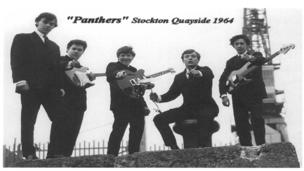 Panthers poster from the Stars Fell on Stockton exhibition