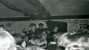 Herman's Hermits photograph from the Stars Fell on Stockton exhibition