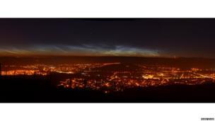 Noctilucent clouds above England