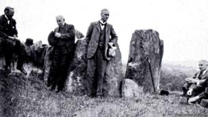 The dedication ceremony at Coldrum Longbarrow in Kent
