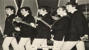 Dave Clark Five at the Globe Theatre photograph from the Stars Fell on Stockton exhibition