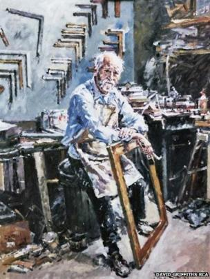 Derek the framer by David Griffiths RCA