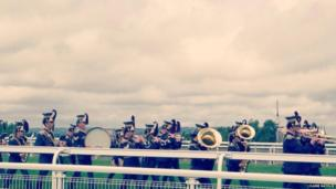 Military band at Goodwood. Photo: Claire Natolie