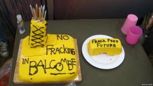 Fracking cake. Photo: John Butcher