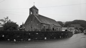 Church and slate wall, from Quiet Heroes, 2012 © Ken Griffiths