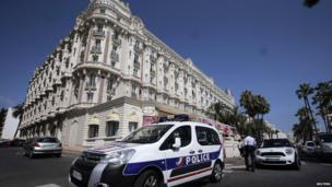 A view of the Carlton Hotel, in Cannes, southern France, on 28 July 2013