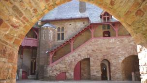 The courtyard of Castell Coch