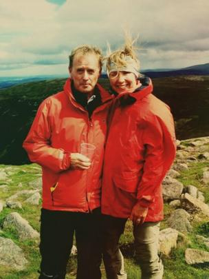 Couple at the summit of Mount Keen