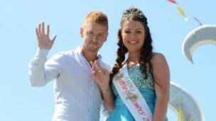 Miss Battle of Flowers Taye Le Monnier. and Mr Battle Mikey North