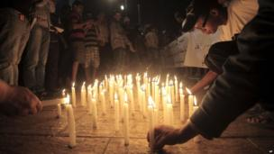Candlelight vigil in Casablanca, Morocco - Tuesday 6 August 2013