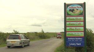Swithens Farm sign