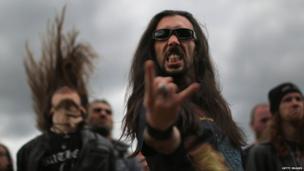 Heavy metal fan at Bloodstock