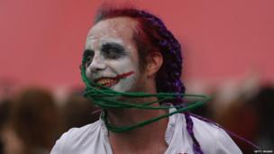 Festival goer in make-up